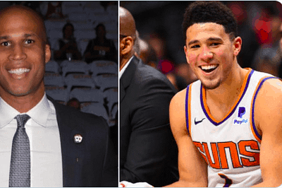 """Devin Booker didn't really care at all when Richard Jefferson questioned the idea of rewarding the """"Suns in four"""" fan"""