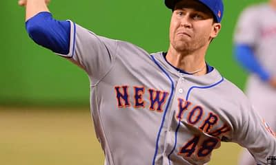 DraftKings MLB DFS cheatsheet for 9/16, picks like Jacob deGrom based on projections and ownership from the world's No. 1 DFS player