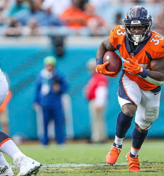 Optimal NFL DFS picks Week 7 DraftKings FanDUel Thursday Night Football tonight today Broncos vs. Browns Showdown single-game free expert advice tips strategy optimizer lineups daily fantasy football rankings odds lines predictions best bets player props betting parlays Javonte Williams