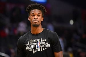Jimmy butler's social media activity is proving that he couldn't be happier not to be dealing with all the Ben Simmons drama in Philadelphia