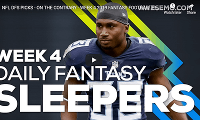 Alex 'Awesemo' Baker is joined by Rotoworld's Ian Hartitz to give out Week 4 NFL DFS Picks & NFL sleepers for DraftKings & FanDuel