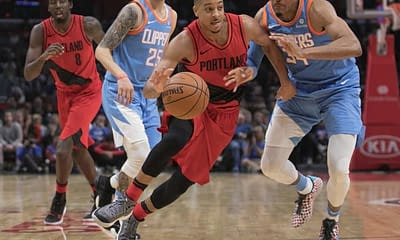 NBA FanDuel Lineup Picks cheat sheet for daily fantasy basketball on Friday April 23 late slate with C.J. McCollum based on expert projections, ownership and stacks.