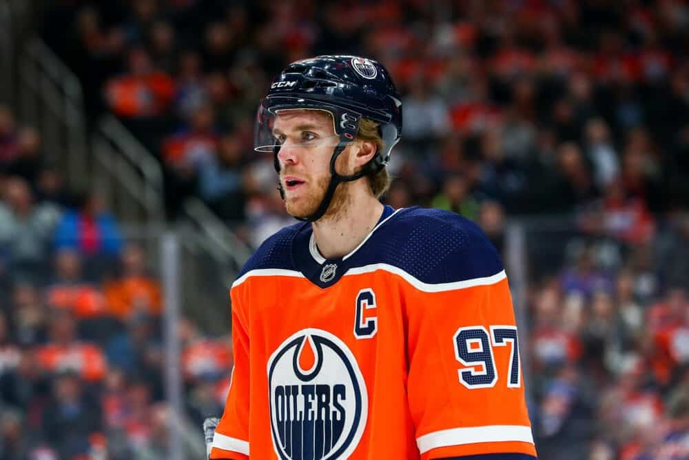 DraftKings & FanDuel NHL DFS picks for fantasy hockey lineups on Tuesday May 4 with Connor McDavid based on Awesemo's expert projections and ownership