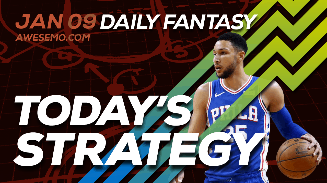 FREE Awesemo YouTube NBA DFS picks & content for daily fantasy lineups on DraftKings + FanDuel including Ben Simmons and more!