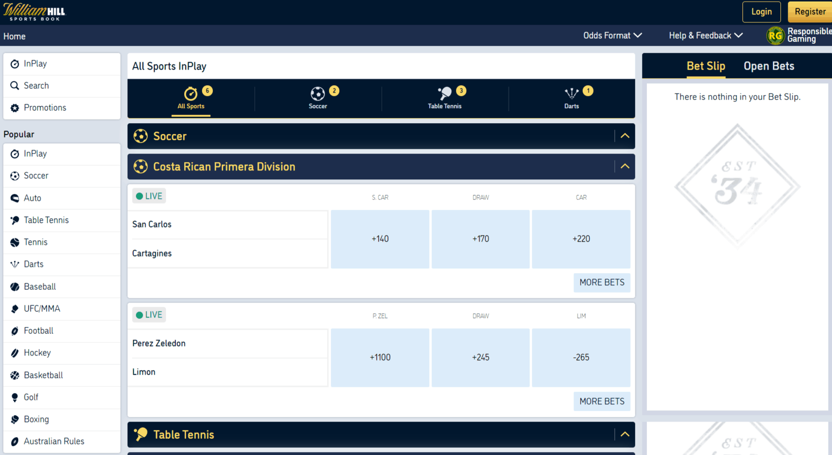 William hill online sports betting review asianconnect tipsters betting