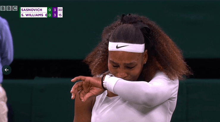Fans, players, and members of the media are calling out the conditions on Centre Court of Wimbledon after Serena Williams retires with injury