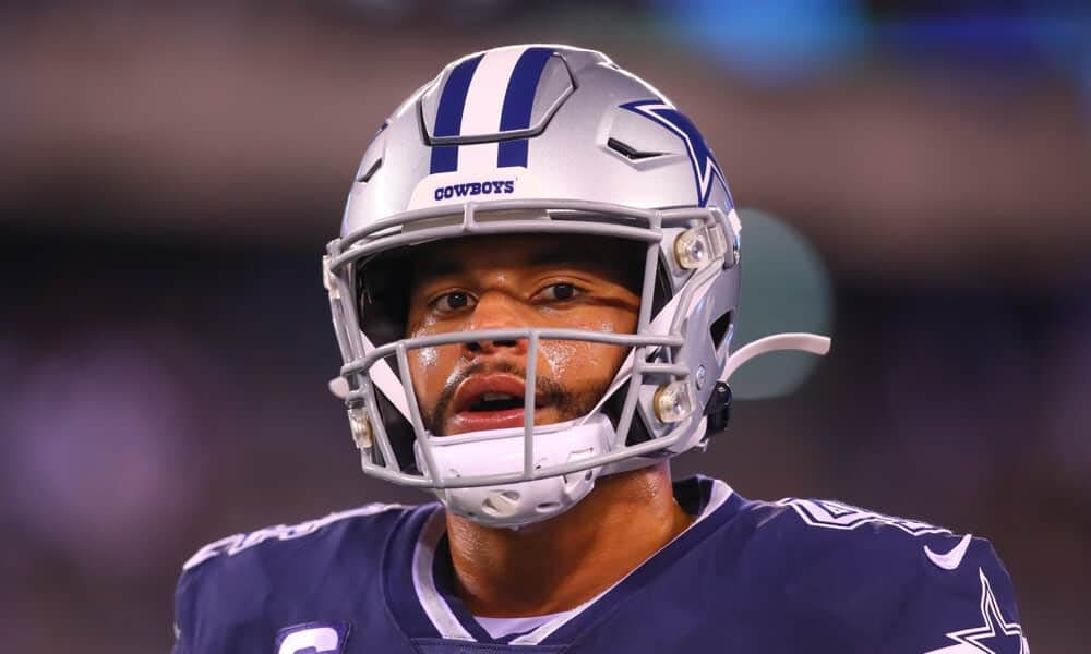 Dallas Cowboys quarterback Dak Prescott explains the quote from Thursday night when he told Tom Brady that he'll be seeing him again in the playoffs