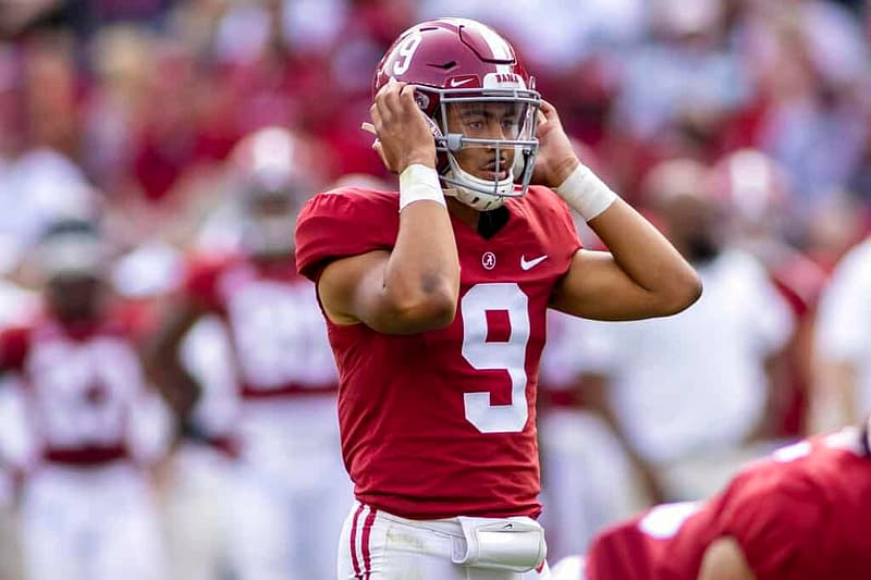College FOotball CFB DFS picks DraftKings FanDuel WEek 3 Bryce Young Alabama QB Ohio State Florida optimal lineup optimizer top stacks free expert rankings projections ownership tournament strategy tips advice GPP