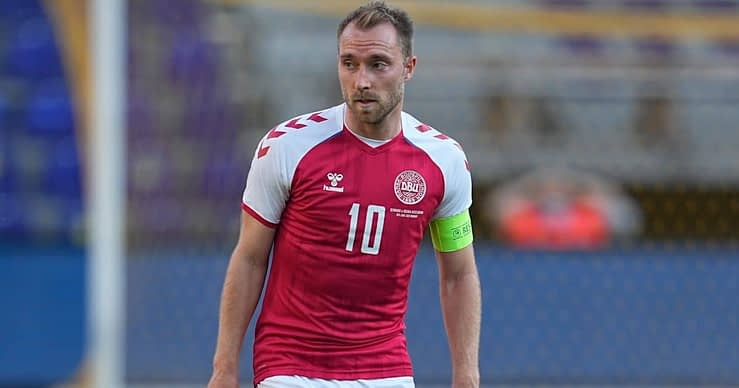 Denmark midfielder Christian Eriksen makes his first public appearance since suffering cardiac arrest on the pitch during EURO 2020