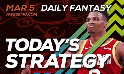 FREE Awesemo YouTube NBA DFS picks & content for 3/5/20 daily fantasy lineups on DraftKings + FanDuel including James Harden and more!