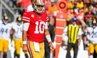 Matt Gajewski's favorite NFL DFS low-priced value plays and picks for Week 8 DraftKings + FanDuel lineups include 49ers QB Jimmy Garoppolo.