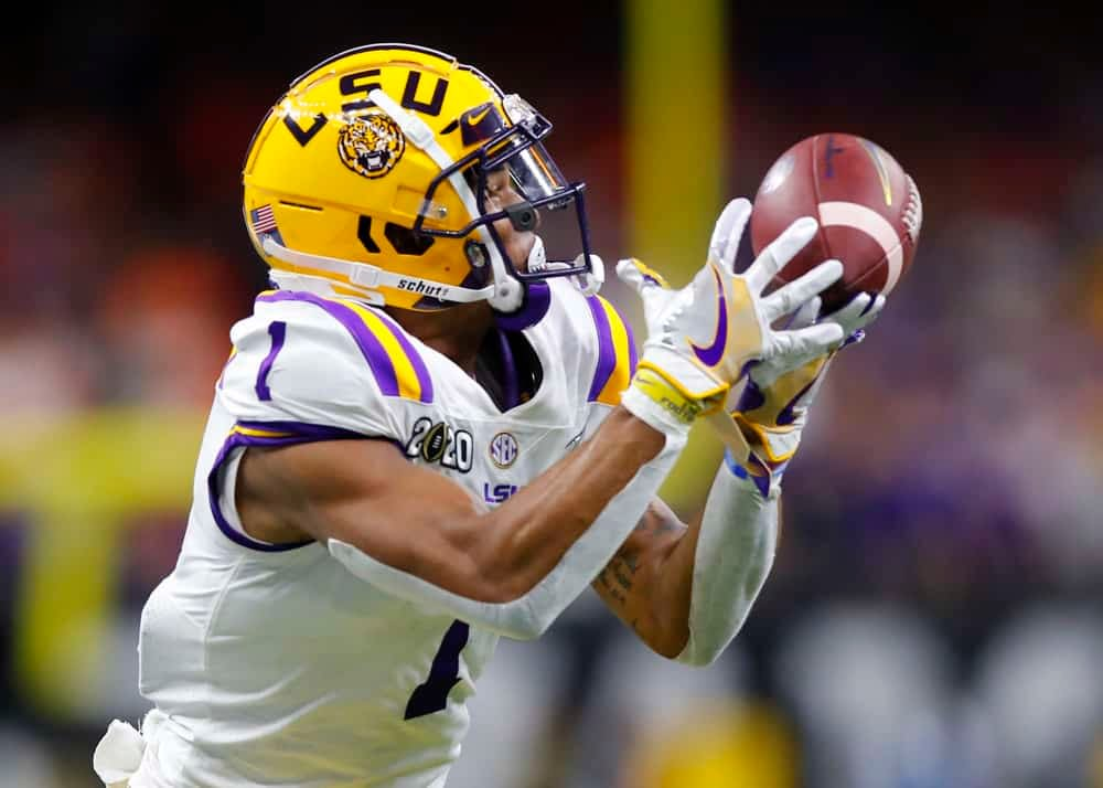 Expert Fantasy Football Rankings Top 5 rookie WRs to draft in 2021 CBS, Yahoo, ESPN, best ball and dynasty leagues this year with Ja'Marr Chase and Devonta Smith