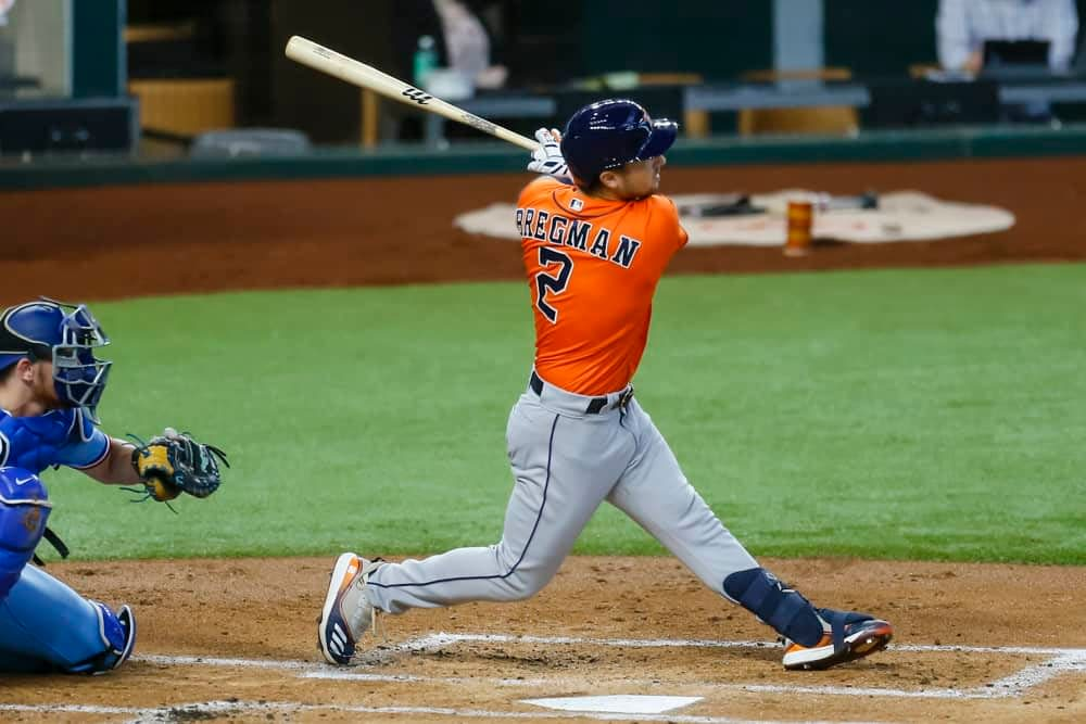 MLB DFS lineup picks today DraftKings FanDuel fantasy baseball rankings free expert projections ownership optimal lineup optimizer stacks MLB playoffs NLDS ALDS Braves Dodgers Astros White Sox Brewers Giants tonight odds lines predictions parlays best bets home run calls ESPN Yahoo CBS