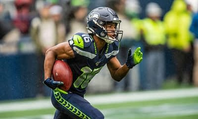 Yahoo cheatsheet: Week 4 NFL DFS picks featuring some of Alex 'Awesemo' Baker's top projections + plays, including Tyler Lockett.