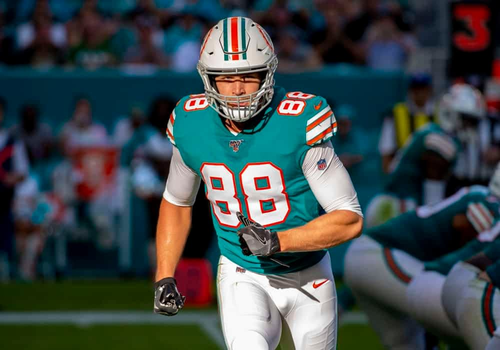 Matt Gajewski's top Fantasy Football Breakouts at the TE positions, for 2020 NFL drafts, including Mike Gesicki and Chris Herndon.