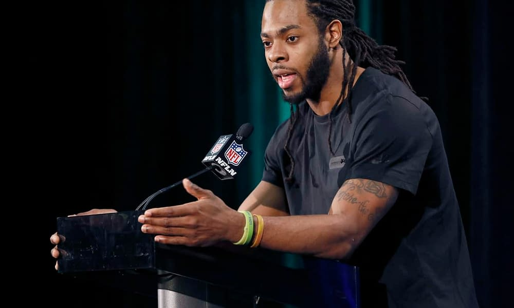 """A police chief in Redwood, Washington has held a press conference to shed some more light on Richard Sherman's """"burglary domestic violence"""" charge"""