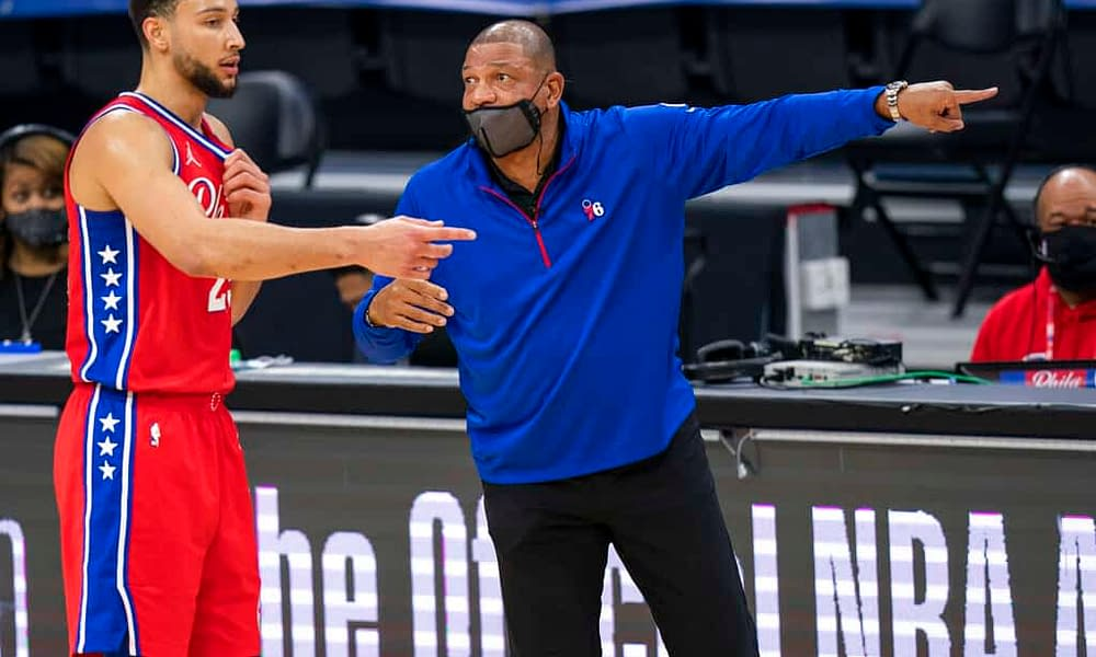 Philadelphia 76ers head coach Doc Rivers has kicked Ben Simmons out of practice and suspended him one day after he looked completely disinterested