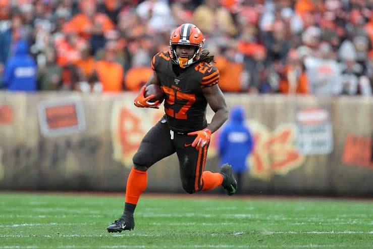 Week 6 NFL Yahoo DFS daily fantasy football picks rostership value plays optimal lineup optimizer Kareem Hunt running back sleepers free expert advice strategy tips tournament cash game GPP Browns