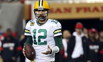 Daily Fantasy Football advice for DraftKings and FanDuel Divisional Round Playoff NFL DFS contests, featuring showdown picks, strategy and ownership for Rams vs Packers and Ravens vs Bills on Saturday, January 16, 2021 Aaron Rodgers