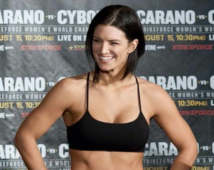 After her topless photo was removed from Instagram, Gina Carano threatened IG with a naked protest. Every man now waits with baited breath.