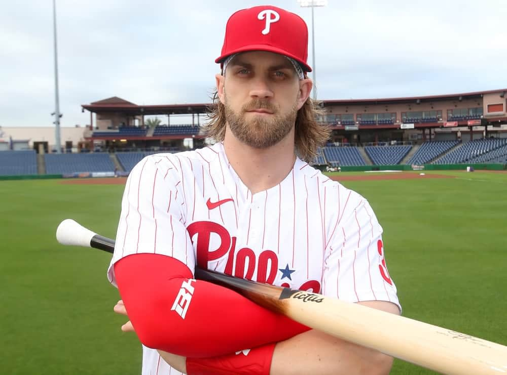 Free expert MLB picks odds betting picks parlays Bryce Harper over 1.5 total bases how to bet on MLB phillies astros twins prop bets player props