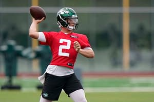 New York Jets quarterback Zach Wilson is going viral after giving a funny answer when asked if he has ever studied Mac Jones prior to their matchup