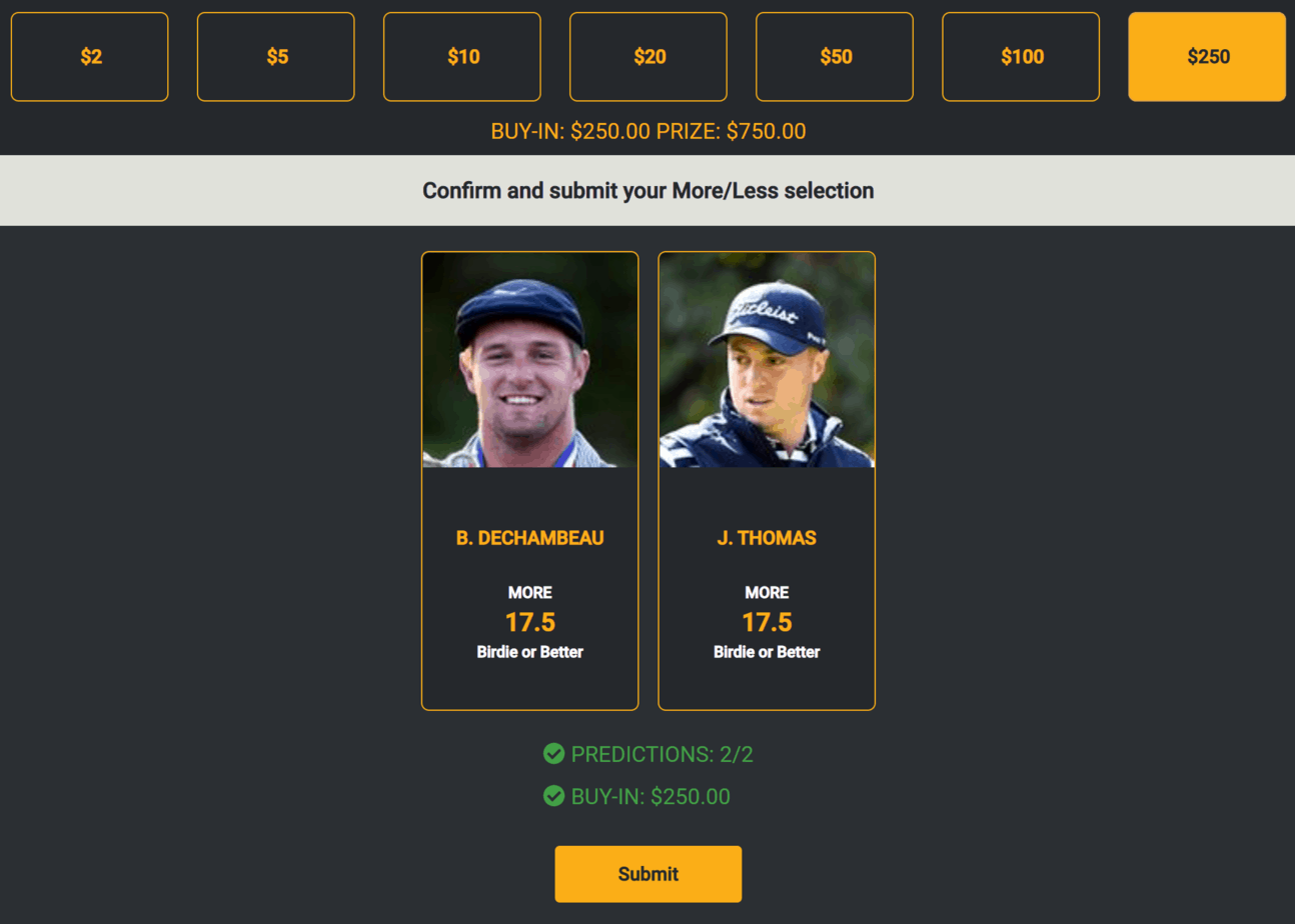 Monkey Knife Fight Prop bets daily fantasy The Masters PGA DFS