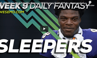 DKLive's Geoff Ulrich joins Alex 'Awesemo Baker & Chris Spags to give out Week 9 NFL DFS Picks, Sleepers for DraftKings & FanDuel