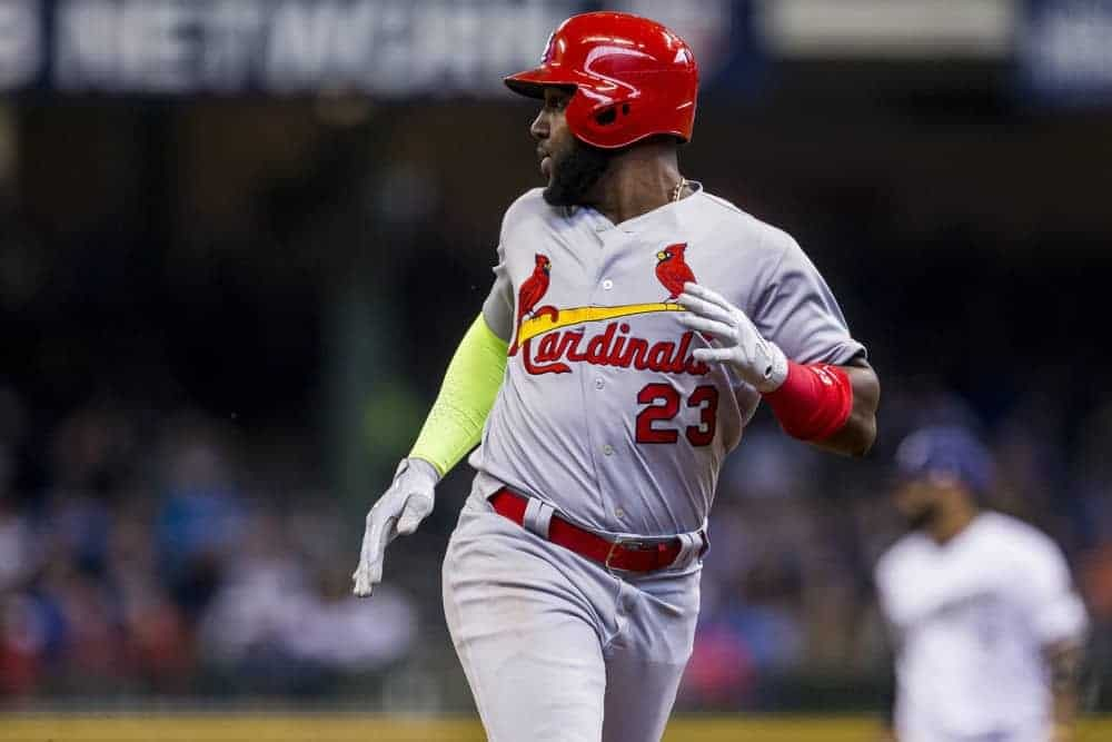 FantasyDraft DFS MLB picks like Marcell Ozuna for September 19 MLB DFS based on projections and ownership from the number 1 DFS player.