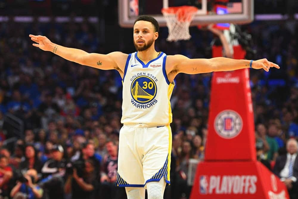 NBA player prop bets Stephen Curry tonight over/under points Warriors vs Trail Blazers
