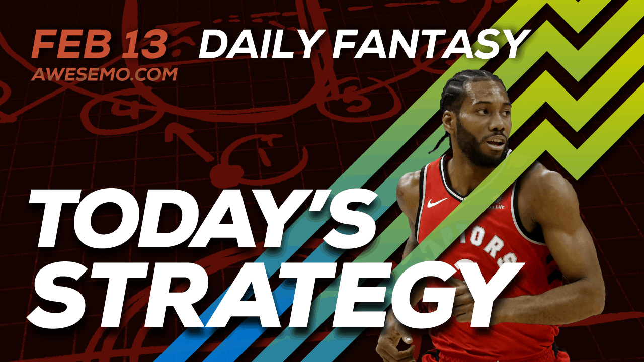 FREE Awesemo YouTube NBA DFS picks & content for daily fantasy lineups on DraftKings + FanDuel including Kawhi Leonard and more!