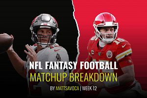 Week 12 Daily Fantasy Football NFL DFS Matchups
