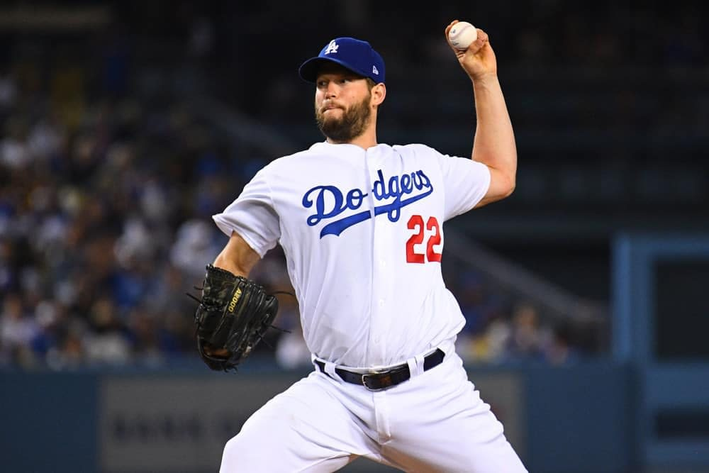 Best MLB bets today betting picks odds lines predictions parlays prop Clayton Kershaw over/under strikeouts today Monday 9/13/2021
