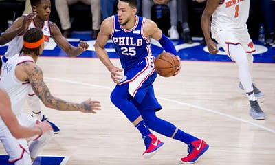 NBA FanDuel Lineup Picks for daily fantasy basketball on Wednesday April 14 with ConTENders Top 10 rankings from JOsh Engleman based on his expert projections and simulations featuring Ben Simmons