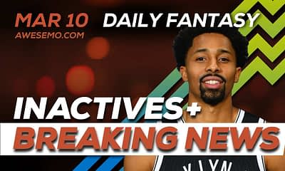 Awesemo YouTube NBA DFS news, picks and content for 3/10/20 daily fantasy on DraftKings, FanDuel, including Spencer Dinwiddie and more!
