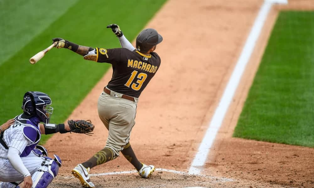 MLB DFS picks for DraftKings and FanDuel daily fantasy baseball lineup advice and strategy for Saturday 5/22, including Manny Machado.