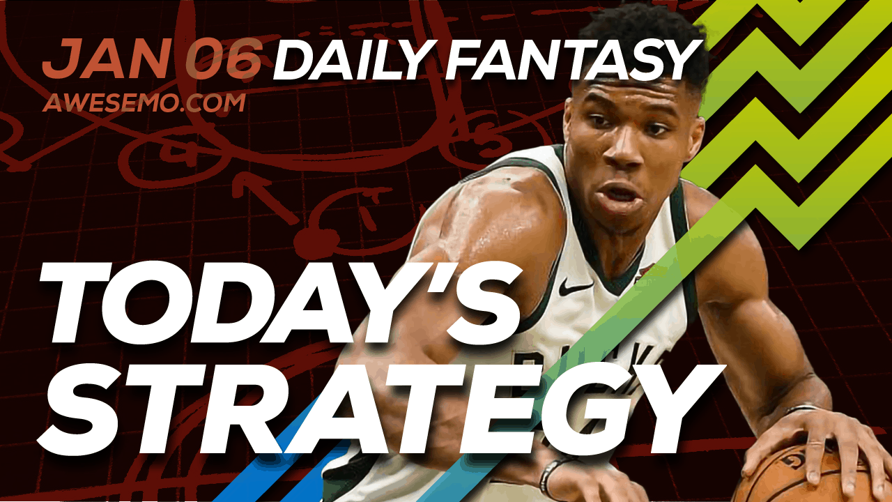 FREE Awesemo YouTube NBA DFS picks & content for daily fantasy lineups on DraftKings + FanDuel including Giannis Antetokounmpo and more!