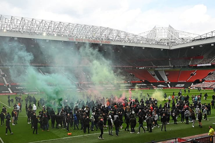 Manchester United protests Old Trafford