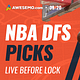 Awesemo YouTube NBA DFS Live Before Lock Show, breaking down the NBA slate + free NBA DFS picks + NBA odds | 9/20/20 Anthony Davis