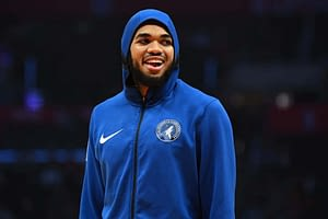 Josh Harris and Alex Baker break down the NBA DFS slate on DraftKings + FanDuel with picks on Sunday, April 18 with Karl-Anthony Towns