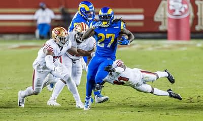 Free expert fantasy football best ball underdog ADP 2021 Darrell Henderson Jr replaces Cam Akers for the LA Rams after AKers is out for the year breakout bust sleeper draft picks mock yahoo espn cbs DraftKings FanDuel