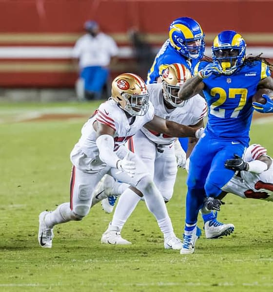 Week 8 NFL DFS picks DraftKings FanDUel lineup optimizer picks optimal lineup today tonight this week daily fantasy football free expert advice tips strategy cheat sheet Darrell Henderson rams running back quarterback wide receiver tight end