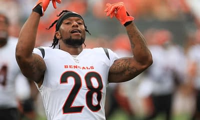NFL DFS picks DraftKings FanDUel Week 7 first look strategy advice tips fantasy football pricing ownership predictions projections rankings optimal lineup optimizer tonight today this week Joe Mixon Jalen Hurts AJ Brown Titans Bengals Eagles top stacks