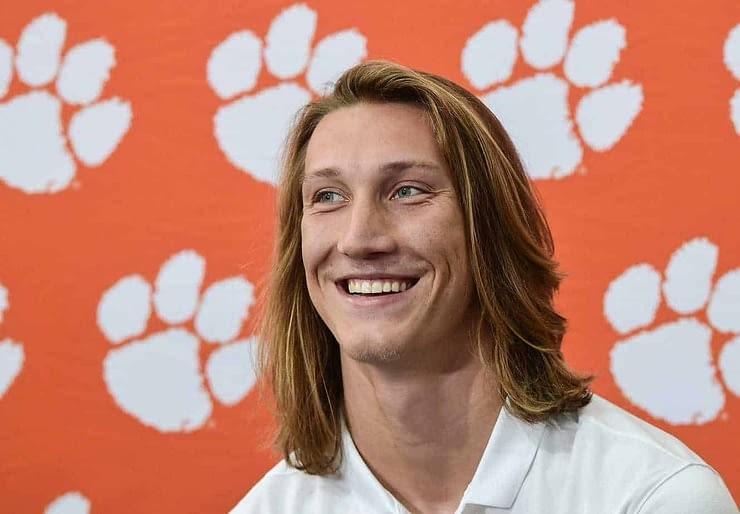 Trevor Lawrence future NFL first overall pick by New York Jets