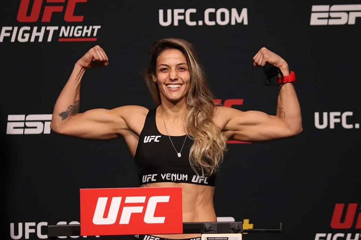 DraftKings MMA DFS Picks UFC Vegas 25 cheat sheet with Poliana Botelho tonight Saturday May 1 based on expert projections and ownership rankings