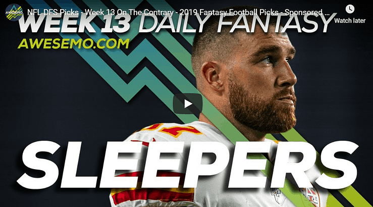 Alex 'Awesemo' Baker & Chris Spags to give out their Week 13 NFL DFS Picks, Sleepers for DraftKings & FanDuel.