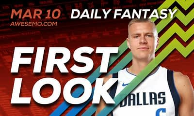 FREE Awesemo YouTube NBA DFS picks & content for daily fantasy lineups on DraftKings + FanDuel with Kristaps Porzingis, Stephen Curry + more
