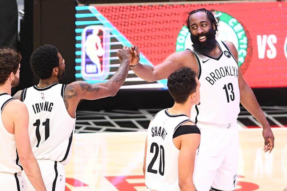 NBA DFS picks, news, notes & lineups for DraftKings and FanDuel on Game 1 with James Harden and the Nets vs Bucks on Saturday, June 5.