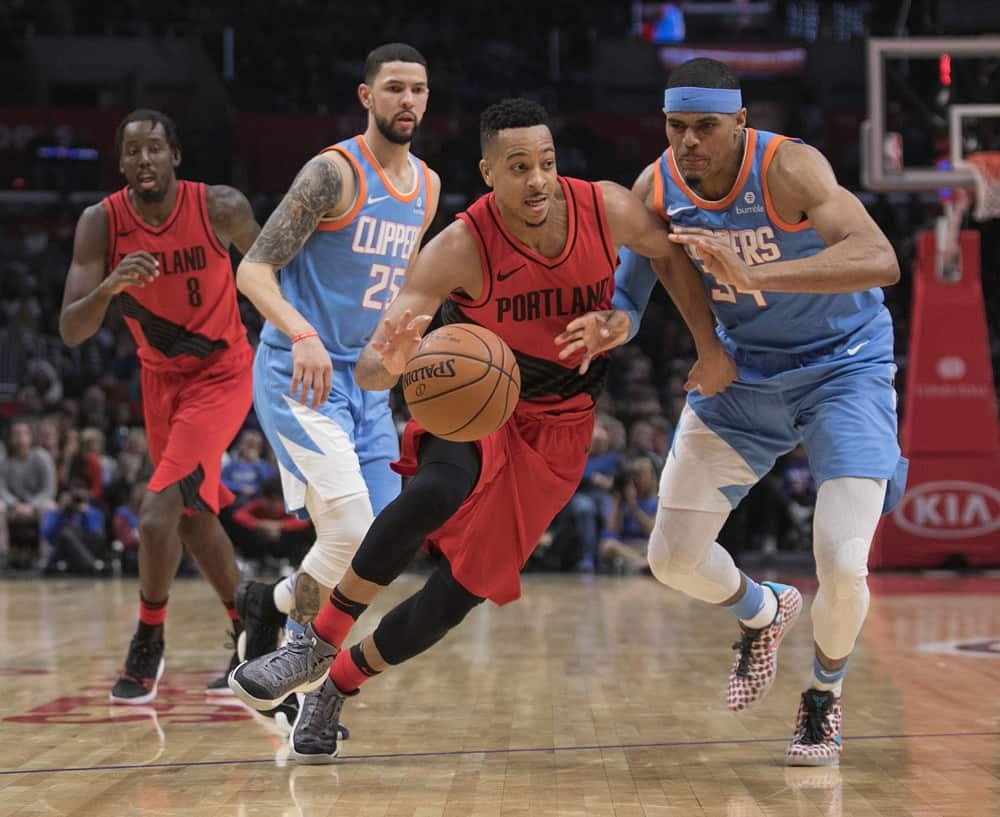 NBA DraftKings DFS Daily Fantasy Basketball Lineup Picks cheat sheet for Saturday April 10 with C.J. McCollum based on expert projections