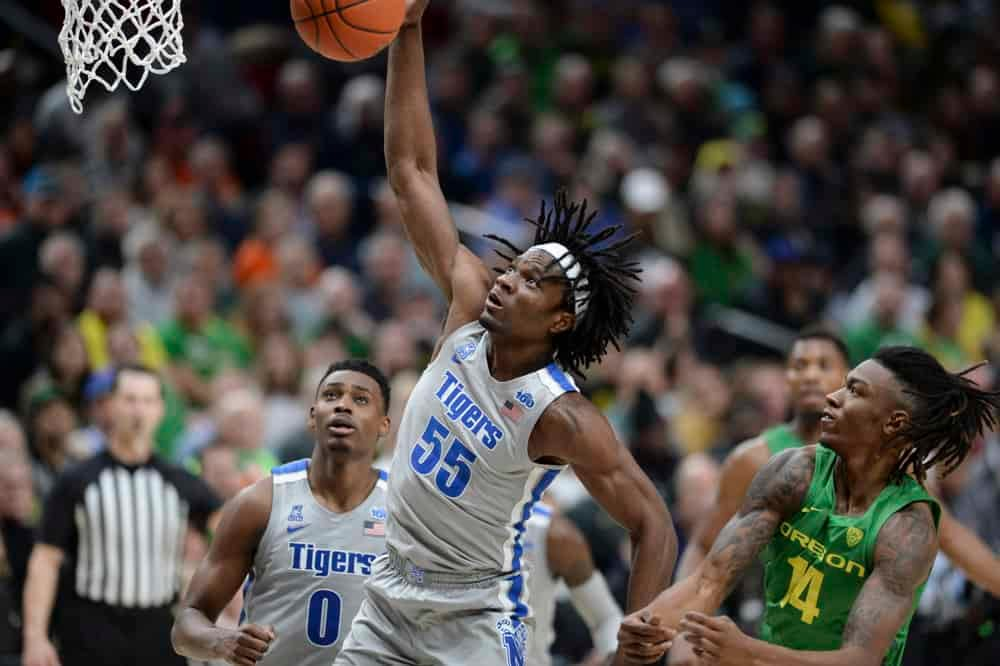 CBB DFS Picks on DraftKings and FanDuel college basketball lineups based on Matt Gajewski's expert projections for the NIT tonight with Memphis, Mississippi State and more.